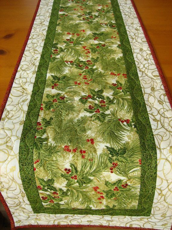 Christmas table runner (color intensity model for patterned fabric)