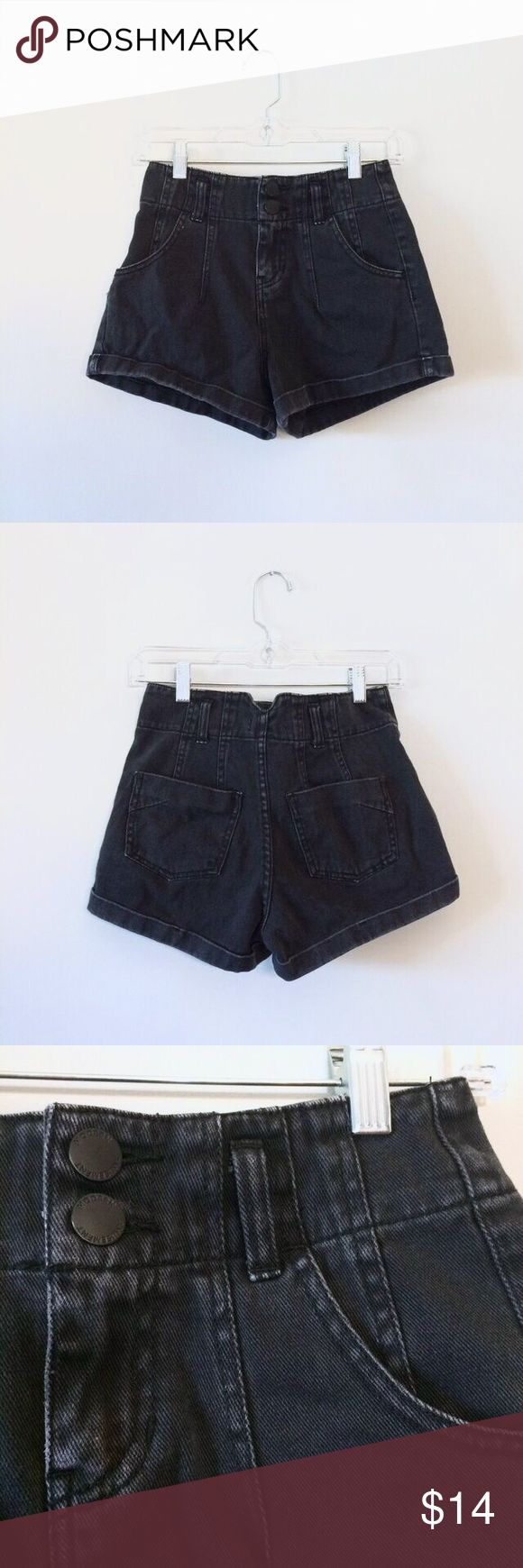 🌵 UO highrise denim shorts ❂ Hello! I'm trying to clear my closet of items I do not use. The reason I am selling is because unfortunately these shorts aren't my size. (I figured I could sew them, but to no avail) ❂ The brand is called Modern Amusement, sold in UO stores. The unique stitching resembles a contemporary, yet quaint appearance in my opinion. Urban Outfitters Shorts Jean Shorts