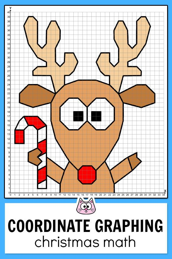 Christmas Math Coordinate Graphing Pictures Santa Elf