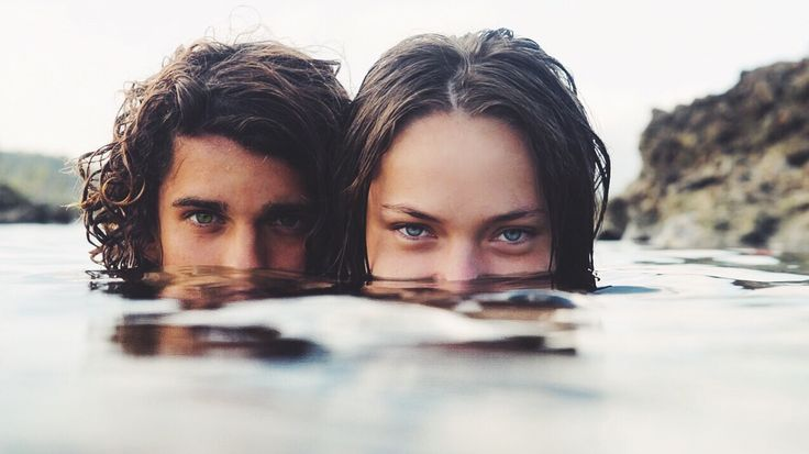 Idk wtf Hemingway and Harrison would be doing sneaking up on someone in the water, but hey why not