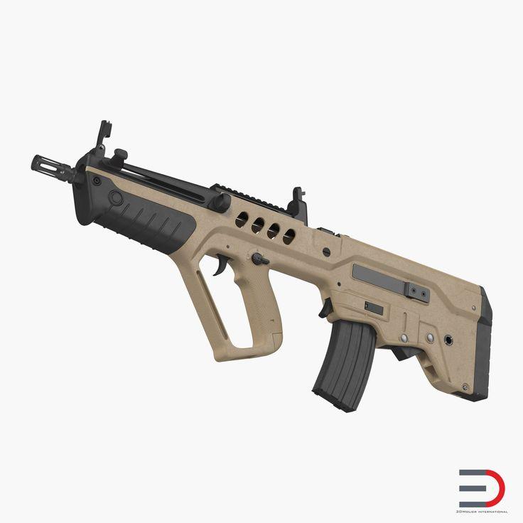 Israeli Bullpup Assault Rifle IWI Tavor TAR 21 3D model