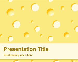 Cheese PowerPoint template is a free PPT template with cheese background effect in the slide design