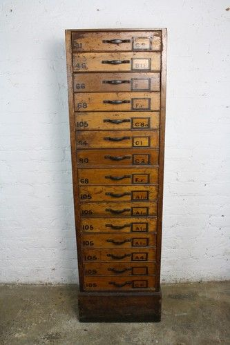VINTAGE INDUSTRIAL FILING CABINET PLAN 15 DRAWER CHEST HABERDASHERY, if only I had a grand!
