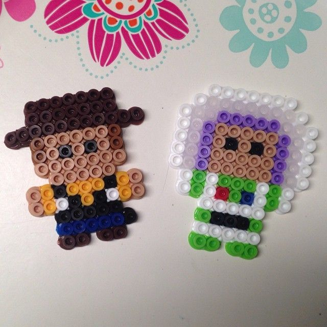 Woody and Buzz perler beads by meganmorphine