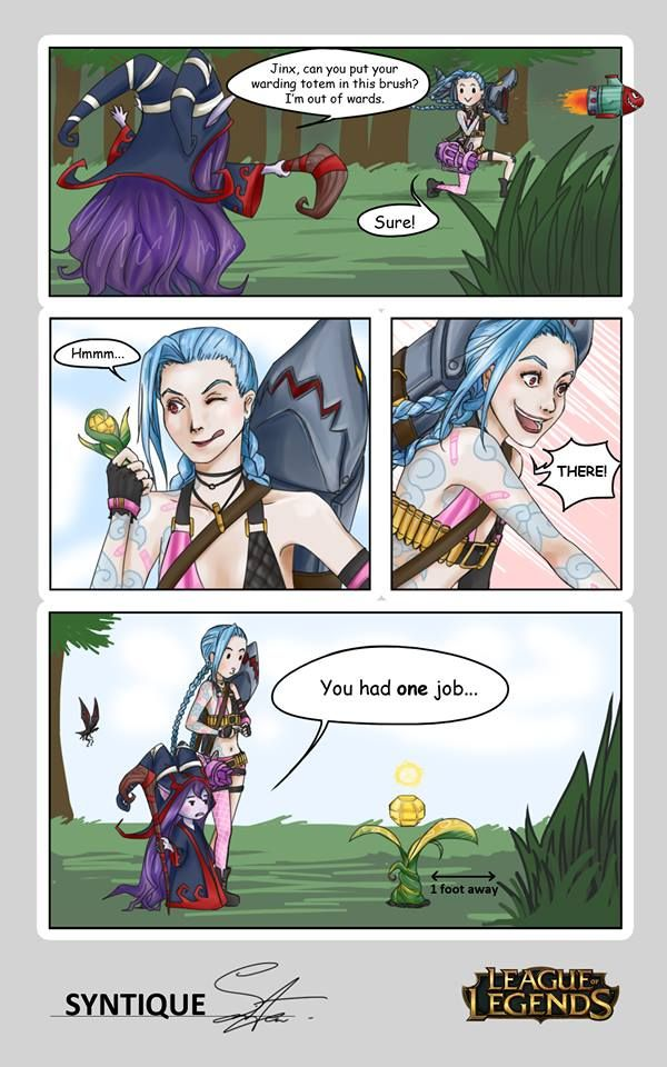 adc + support warding league of legends comic hahaha