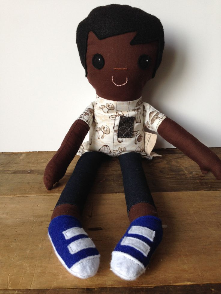 Handmade Cloth Doll, Rag Doll, Cloth Doll, Boy Doll, Dolls for Boys, African American Doll, Black Doll, Black Boy Doll by radeANDweese on Etsy https://www.etsy.com/ca/listing/247321664/handmade-cloth-doll-rag-doll-cloth-doll