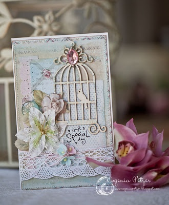 Love this beautiful card with birdcage!