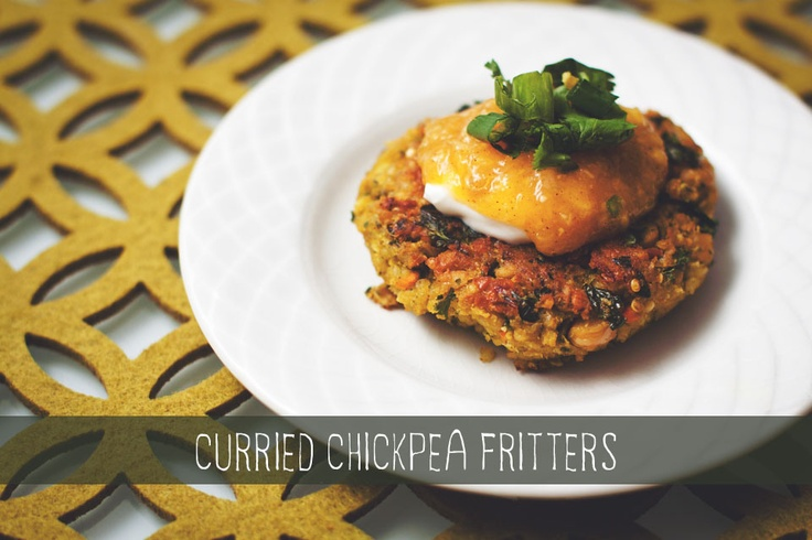 Curried Chickpea Fritters { chicksandpeas.ca }