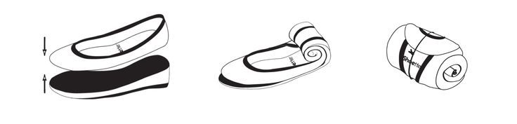 Ballerines pliables, Shoette
