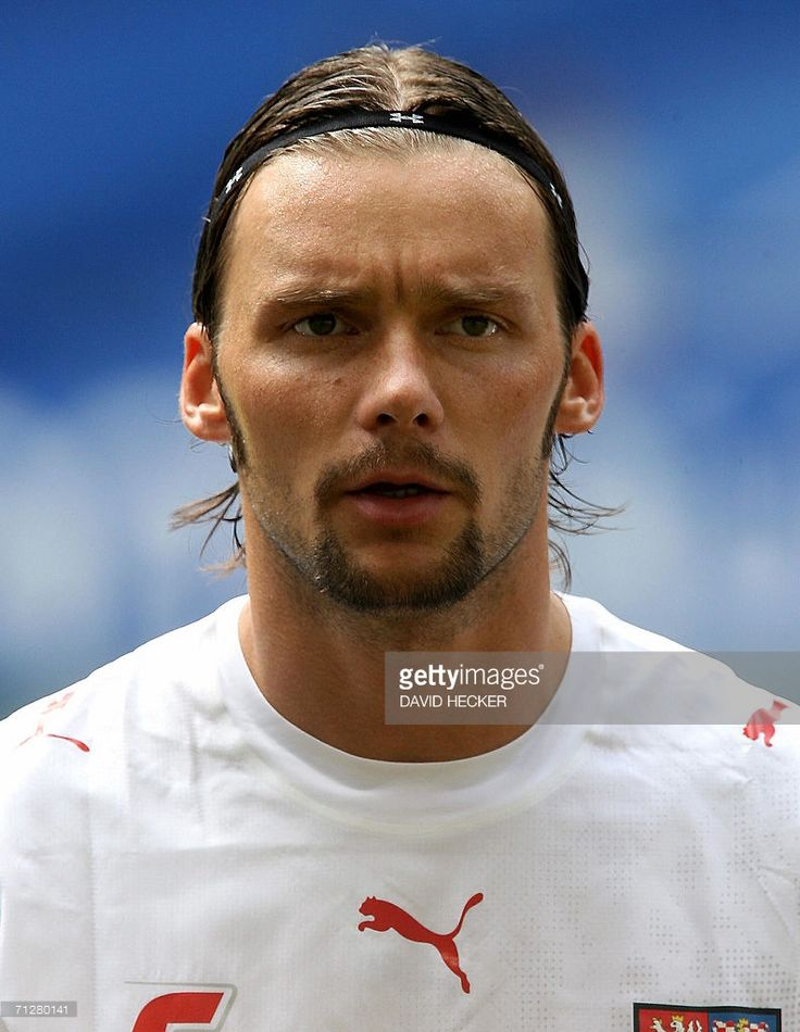 Czech defender Marek Jankulovski poses before the World Cup 2006 group E football game Czech Republic vs. Italy, 22 June 2006 at Hamburg Stadium. AFP PHOTO DDP/David HECKER