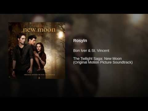 Rosyln by Bon Iver and St Vincent, from the New Moon soundtrack (Twilight Film)    This plays when Edward skips school the day after Bella's birthday after Jasper tries to kill her at her birthday party.