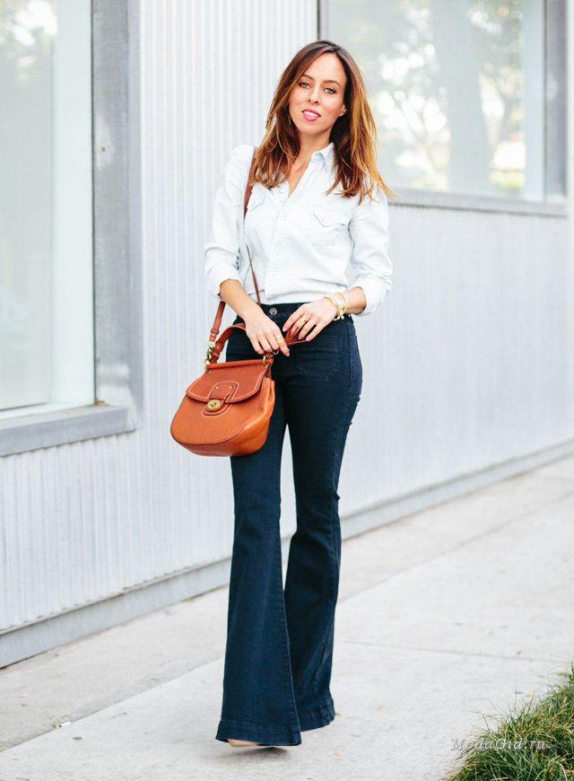 Мода и стиль: Как носить джинсы клеш весной и летом 2015 и не выглядеть как хиппи