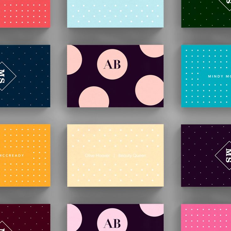 A selection of Spots business card templates available to customise and order on our site.