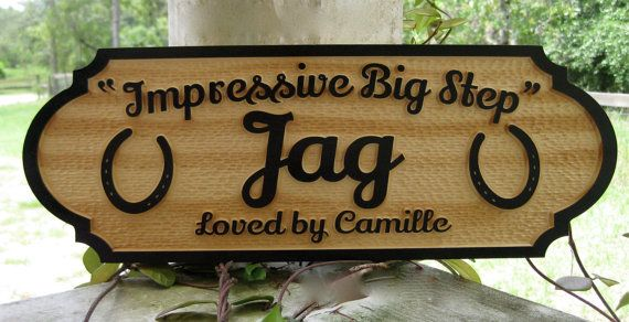 Horse Name Plate Stall Sign Personalized by GPandSonWoodcrafting