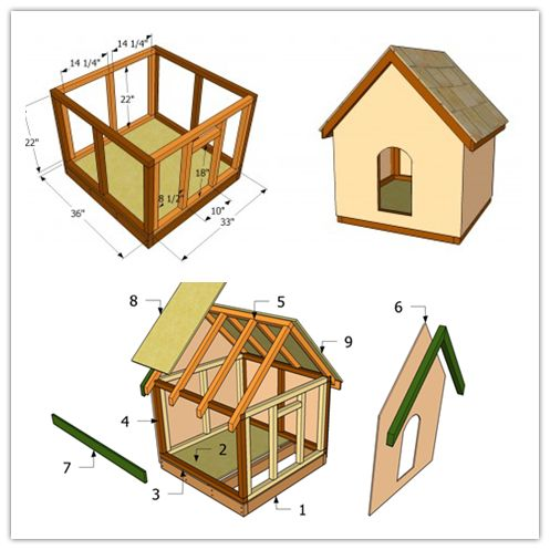 How to make a simple doghouse step by step diy tutorial for How to frame a house step by step