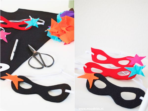 Supersnelle maskers en superhelden capes DIY - MoodKids | Moodkids