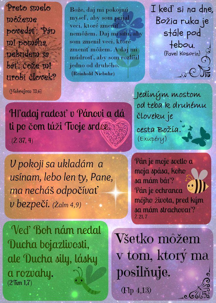 Citáty z Biblie. Printable Bible scriptures.