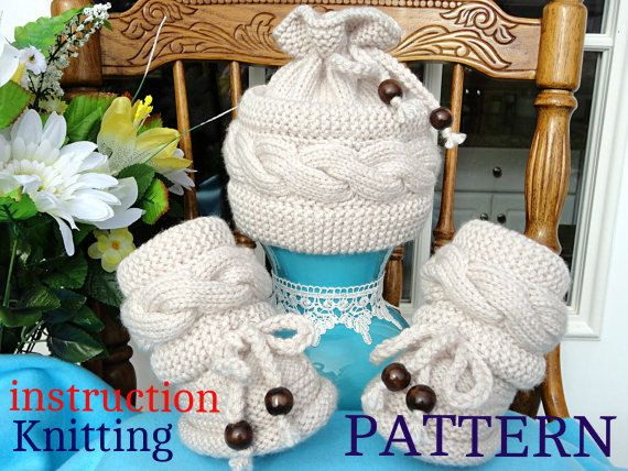 Knitting P A T T E R N Baby Set Knitted Baby Hat by Solnishko43