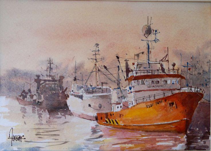 Barco en el muelle