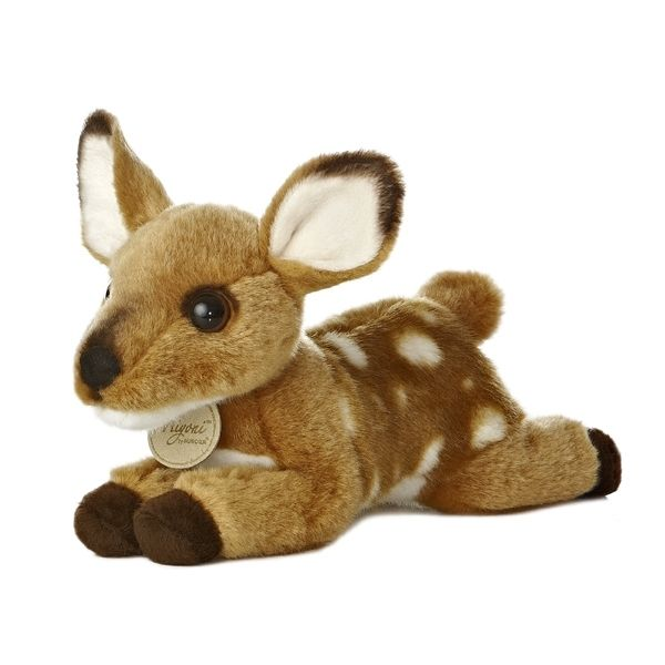 realistic stuffed animals realistic stuffed deer fawn 8 inch plush animal by aurora. Black Bedroom Furniture Sets. Home Design Ideas