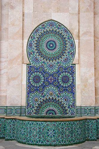 Mosaic and Fountain, Casablanca, Morocco (by CJ Photo)