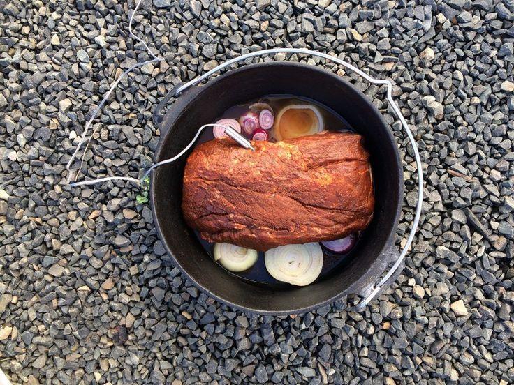 Pulled Pork:Schweinenacken vor dem Garen