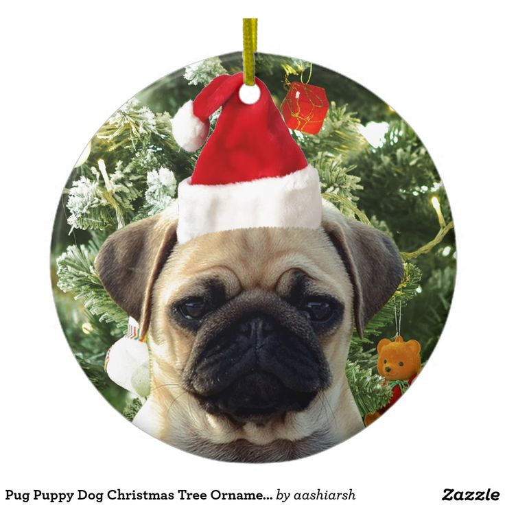 #Pug #Puppy #Dog #Christmas Tree #Ornaments Snowman #pet #christmas2016 #christmasornaments