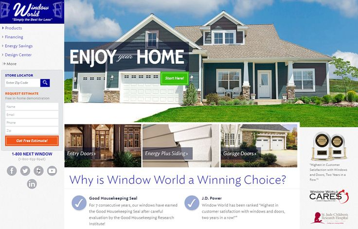 Experience Window World's unrivaled ENERGY STAR replacement windows, doors, vinyl siding, and shutters. Contact us to schedule your free estimate today!