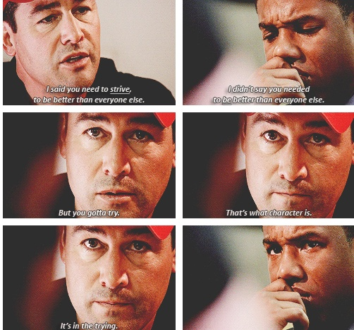 The best Vince-Coach Taylor conversation. #FridayNightLights