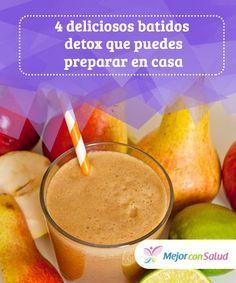 4 deliciosos #batidos #detox que puedes preparar en casa Además de ayudarnos a desintoxicar el #organismo estos batidos son saciantes, por lo que nos permiten controlar el hambre y bajar de peso con más facilidad #Recetas