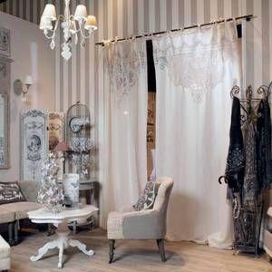 rideau voilage boudoir mathilde m rideaux shabby pinterest rideaux voilages voilages et. Black Bedroom Furniture Sets. Home Design Ideas