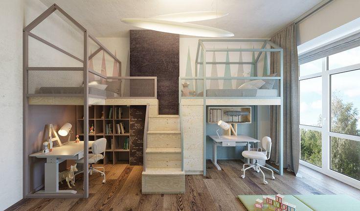 Unique and playful kids bedroom design...   Visit : roohome.com  #bed #bedroom #design #decoration #amazing #awesome #beautiful #gorgeous #fabulous #unique