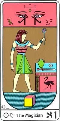El Mago (El Mago) en el Tarot Egipcio Kier