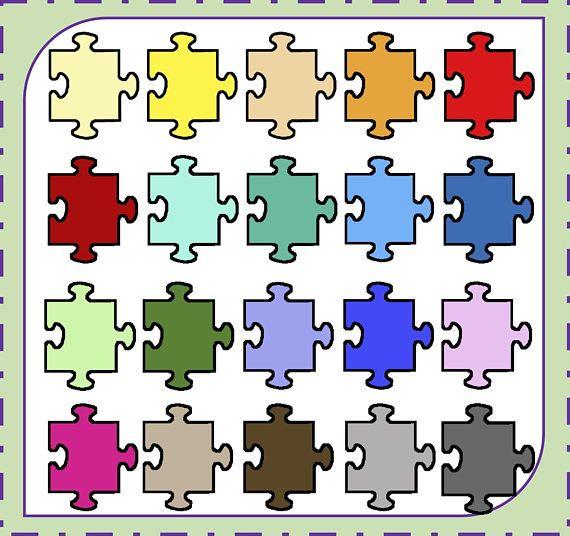 Sale! Puzzle Piece Clipart, Puzzle Clipart, Kids Puzzle Game, Jigsaw Clipart, Board Games, Kids Games, Autism, Commercial Use, Clipart PNG