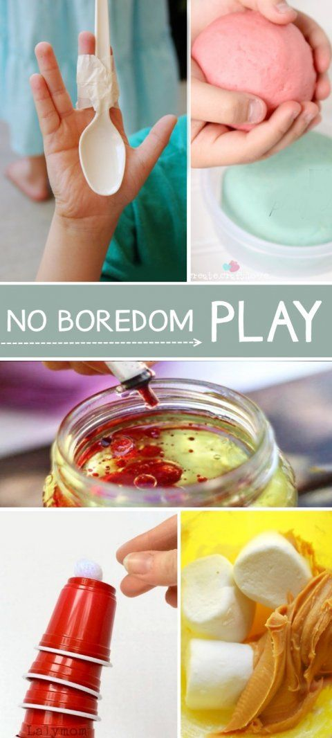 "Super fun activities to keep in your back pocket for when kids utter the dreadful words, ""I'm bored!"""