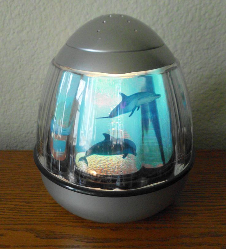 Revolving Dolphin Underwater Tabletop Dome Lamp