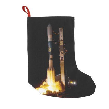 Night Space Rocket Launch Small Christmas Stocking - christmas stockings merry xmas cyo family gifts presents