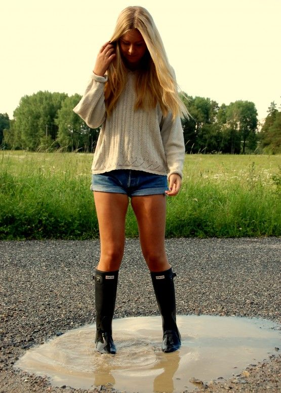 Why not wear them with everything? #hunterboots