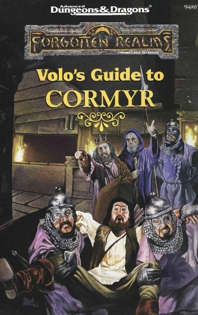 Volo's Guide to Cormyr (2e) - Forgotten Realms | Book cover and interior art for Advanced Dungeons and Dragons 2.0 - Advanced Dungeons & Dragons, D&D, DND, AD&D, ADND, 2nd Edition, 2nd Ed., 2.0, 2E, OSRIC, OSR, d20, fantasy, Roleplaying Game, Role Playing Game, RPG, Wizards of the Coast, WotC, TSR Inc. | Create your own roleplaying game books w/ RPG Bard: www.rpgbard.com | Not Trusty Sword art: click artwork for source