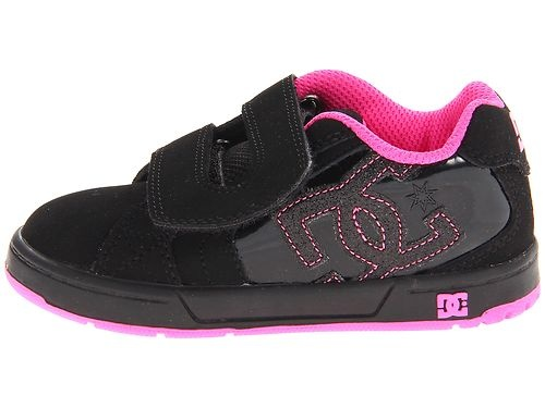 DC NET V Wide Toddler Shoe Velcro Strap Black HOT Pink Wide Baby Shoe 302844 BPZ | eBay