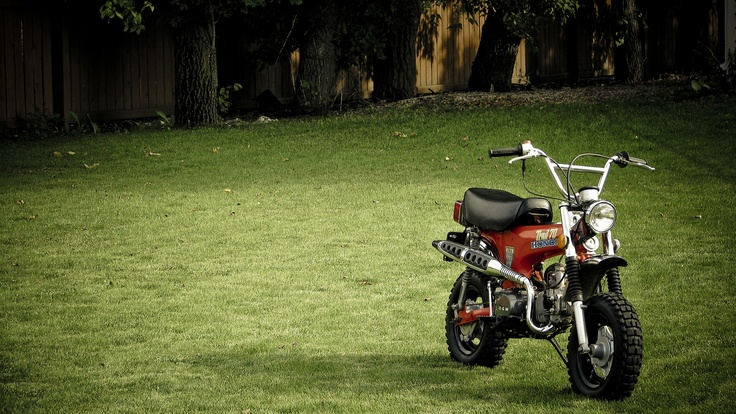 """The first motorcycle I ever rode. I want one again.  Honda CT70 """"Trail 70"""" #honda #70 #CT70"""