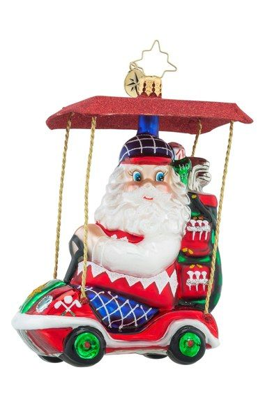 Christopher Radko 'Senior Tour' Santa Ornament available at #Nordstrom