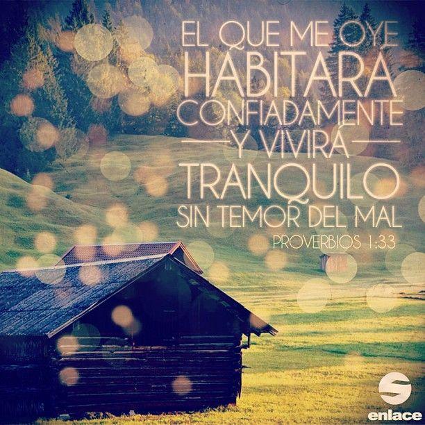 Mas el que me oyere, habitará confiadamente y vivirá tranquilo, sin temor del mal. - Proverbios 1:33