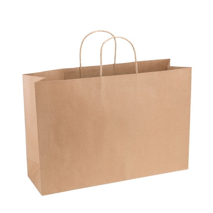 Paper Bag Extra Large Wide 420w x 130d x 310h Natural Brown pack - Surestyle Limited