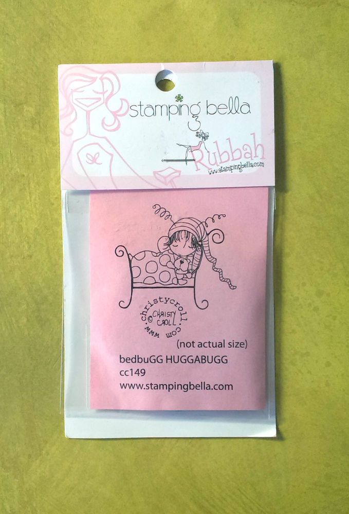 Stamping Bella BedBugg HuggaBugg Rubber Stamp Unmounted - 6cm x 5cm image