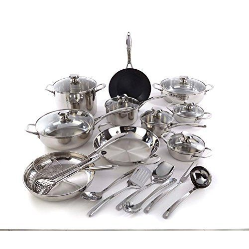 Wolfgang Puck Bistro Elite 25-piece Stainless Steel Cookware Set with Tools