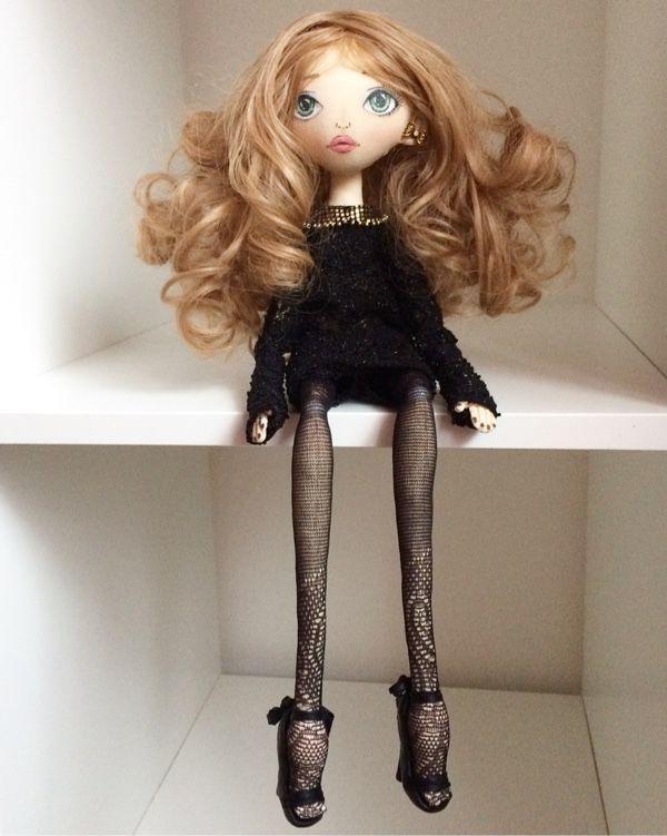 Купить Текстильная интерьерная кукла - кукла, кукла ручной работы, кукла в подарок, кукла интерьерная