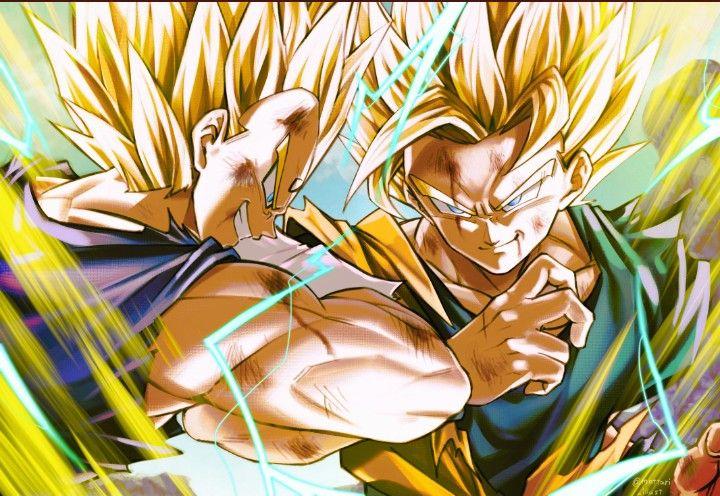 Goku Vs Majin Vegeta Atrtby Mattari Illust In 2020 Anime Dragon Ball Super Dragon Ball Art Dragon Ball Wallpapers