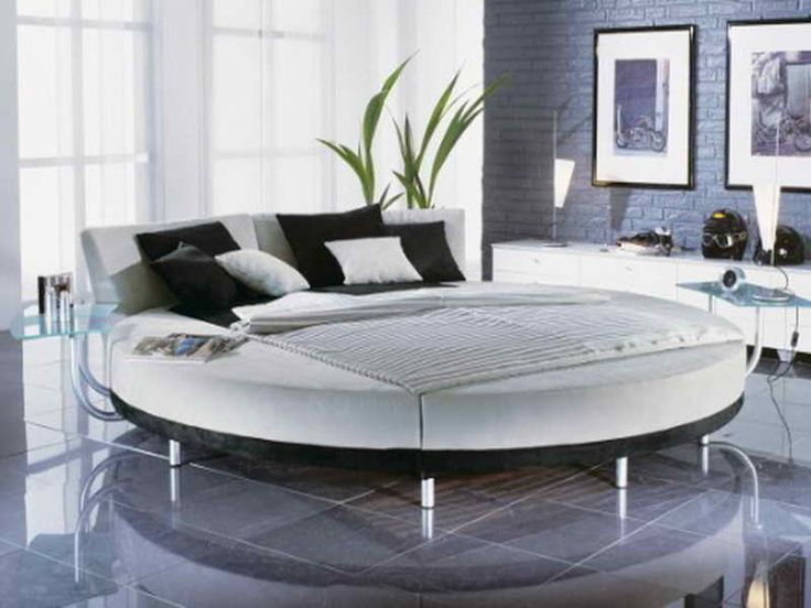 Elegant Leather Round Bed. Round BedsBedroom SetsWhite ...
