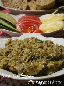 Hankka: Pirított tökmagos - sült hagymás kence